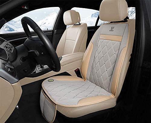 Preisvergleich Produktbild R&P Kühlendes Autositzkissen Schneller Fön Sommer Leder 3D-Seide Cooles Pad Leise Atmungsaktiv / Schweiß Spannung 12 V / 24 V Universal Modell, Beige