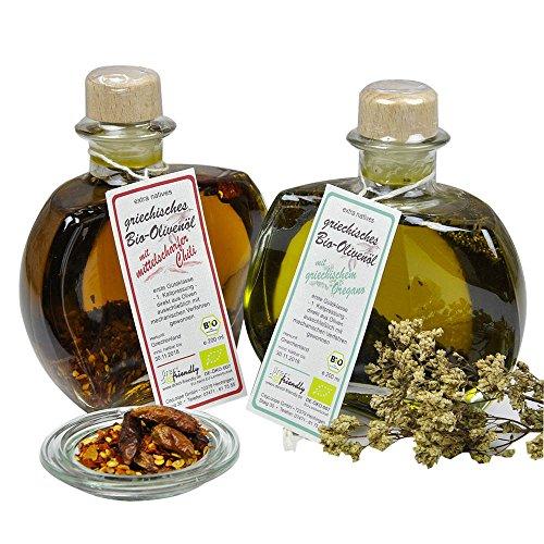 direct&friendly Bio Geschenkset Yin und Yang, Olivenöl mit Oregano und Chili