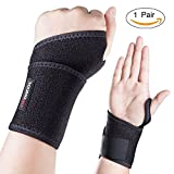 Youngdo Handgelenkbandage Kinder/Damen, 2er Set Wrist Wrap zum Kraftsport, CrossFit, Fitness, verstellbare Handgelenkschoner wirkungsvollen Entlastung, Zerrungen Sport natürliche Bewegungsfreiheit