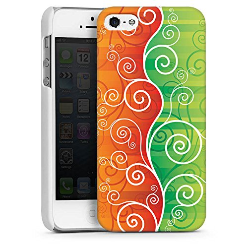 Apple iPhone 4 Housse Étui Silicone Coque Protection Floral Fioriture Vrilles CasDur blanc