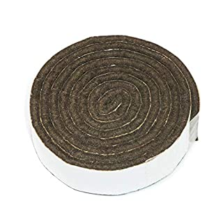 3 x Self-Stick Furniture Felt Strips for Cutting | Felt pad | 0,75'' x 39,37'' (19x1000 mm) | Brown | Angular | self-Adhesive Furniture Glides in top-Quality by Adsamm