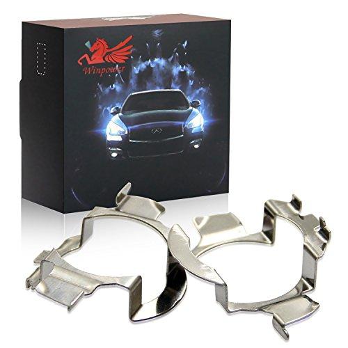 Win Power H7 Support d'adaptateurs pour ampoules de phare LED, lot de 2