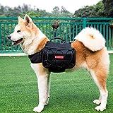 1T OneTigris Hunderucksack Reisen Camping Wandern Hund Backpack für mittelgroße & Large Hunde (Schwarz-Verbesserte Version)
