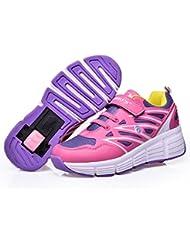 Zapatillas con ruedas automáticas para niños - Transpirables - Mod. 101 - Rosa - Varias tallas