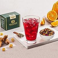 VAHDAM Tangy Tamarind Iced Tea | 40 porciones, 8 cuartos de galón | Ingredientes 100% naturales | Delicioso sabor de tamarindo y exóticas frutas tropicales | Té helado de hierbas | Iced Tea Loose Leaf | 3.53oz (juego de 2)