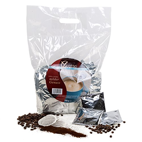 Yvette Megabeutel Mild Kaffeepads, Einzeln Verpackt, Röstkaffee, Kaffee, passend für Senseo, 100 Pads
