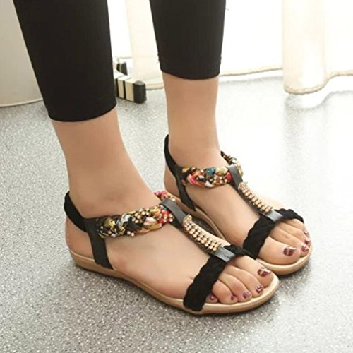 Sandalen Bequeme Hausschuhe Baotou Flache Hausschuhe Frauen Sandalen Flache SandalenMode Sandalen (Farbe :