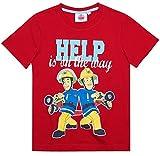 Feuerwehrmann Sam Kollektion 2018 T-Shirt 92 98 104 110 116 122 128 Shirt Fireman Sam Jungen Top Feuerwehrauto 2018 Blau (Rot; Red, 122-128)