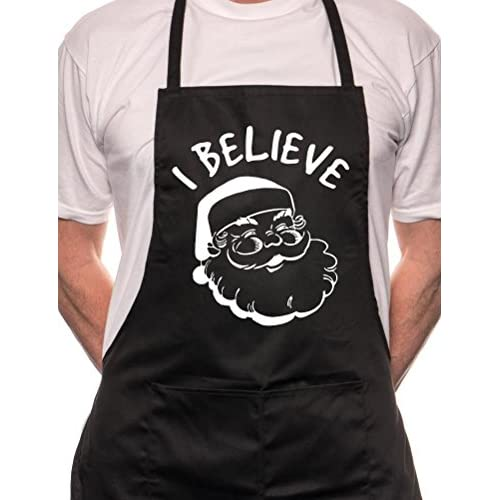 I Believe In Santa Claus Father Christmas Apron