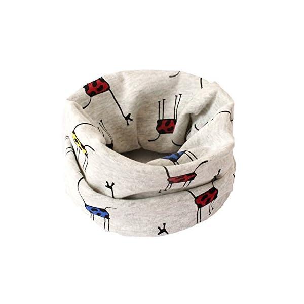Leisial™ Bebé Pañuelos de Cuello Algodón de Dibujos Animados Collar del Bufanda Algodón Chal para Otoño Invierno 1