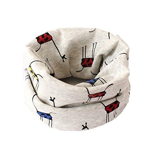 BIGBOBA Bufanda de puro algodón para niños. Bufanda calentadora de cuello para...