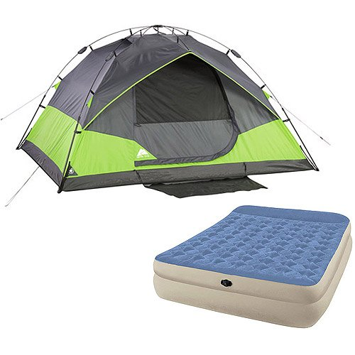 Ozark Trail 4-Person Instant Dome Tent and Queen Airbed Value Bundle by Ozark Trail Dome Bundle