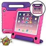 Pure Sense Buddy iPad 2/3 / 4 Custodia Protettiva Anticaduta per Bambini, Robusta, Cover con Tracolla, Antibatterica, Antigermi, Massima Solidità + Manico, Supporto, Rosa
