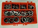 Premium Self Centralising Bonded/Dowty Seal Washers Imperial Sizes In Kit Form Made Of High Grade Steel Containing 7 Popular Sizes For Engineers, Elec
