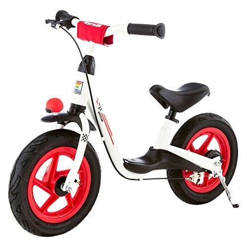Kettler Laufrad Spirit Air Racing - Farbe: schwarz, rot und weiß - Reifengröße: 12,5 Zoll, ab 3 Jahren geeignet - Lauflernrad für Jungs und Mädchen - verstellbare Höhe - mit Luftbereifung