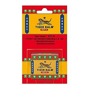 TIGER BALM ROT N – Natürlicher Balsam zur Förderung der Hautdurchblutung – Einreibung mit hochwertigen ätherischen Ölen – 1 x 19,4 g