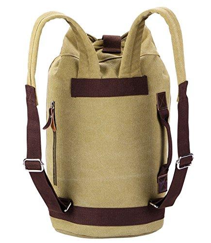 Laptop Rucksack,VIDENG POLO Geschäft Segeltuch Handtaschen Büchertasche für die Universität Reise Rucksack für unter 15 17 Zoll Laptop Khaki-bct