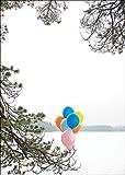 Verschicken Sie einen fröhlichen Winter Geburtstagsgruß mit Luftballons • auch zum direkt Versenden mit ihrem persönlichen Text als Einleger.