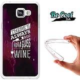 BeCool® Fun - Coque Etui Housse en GEL Flex Silicone TPU Samsung Galaxy A5 2016 , protège et s'adapte a la perfection a ton Smartphone et avec notre design exclusif.Vive le vin!
