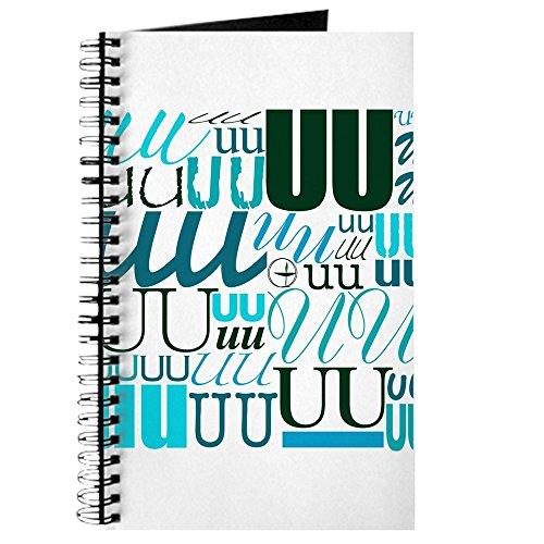 CafePress–UU für Typografie (Aqua)–Spiralbindung Journal Notebook, persönliches Tagebuch, Aufgabe Tagebuch (Journal Aqua)