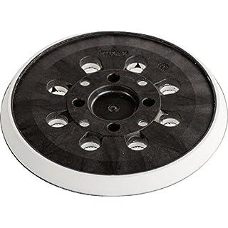 kwb Schleifteller Stützteller Quick-Stick für Bosch Exzenterschleifer PEX 300 AE/400 AE, 481120 ( Ø 125 mm, mittelhart, Klett, gelocht)