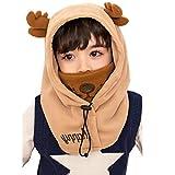 YUANMY Warme Fleece Sturmhaube Wintermütze Schal für Kinder mit Maske/Hals-Warmer Gesichtsmaske Warme Windschutz Kindermütze für Mädchen