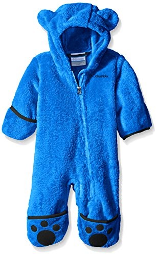 Columbia Fleeceanzug für Kinder, Foxy Baby II Bunting, Polyester, Blau (Super Blue/Collegiate Navy), Gr. 18/24 Monate, WN0016 Baby Blue Weste