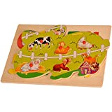 Shape Puzzle - Farm animals wooden toys.toy