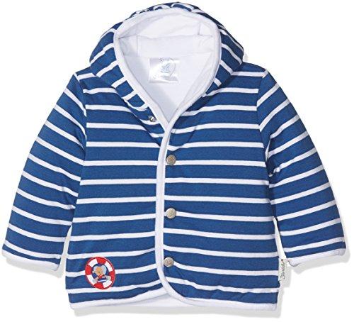 Sterntaler Kapuzen-Jacke Jersey Erwin für Babys, Alter: 3-4 Monate, Größe: 56, Blau - Jersey Kapuzen Jacke