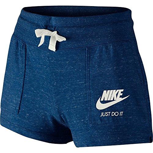 Nike G NSW Gym VNTG Shorts, Mädchen S Blau (Binärblau/Segel)