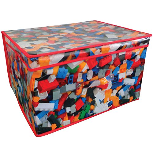 zusammenklappbar Jumbo Spielzeug Stauraum Truhe 50x 30x 40cm Spielzeug Brick Design