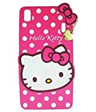 #7: Lenovo A7000 & Lenovo K3 Note Back Cover - Yes2Good Printed Hello Kitty Soft Rubber Silicone Pink Back Cover Case For Lenovo A7000 & Lenovo K3 Note Back Cover-Pink