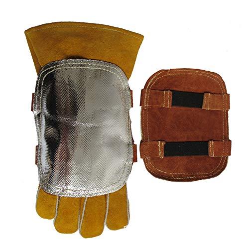 guanti per saldatura Scambiatore Di Calore A Portata Di Mano Scudo Di Protezione Riflettente Di Alluminio Temperatura Scudo Di Protezione Per Le Mani