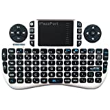 iPazzPort Mini 2.4GHz Wireless Remote Control Keyboard with Touchpad for Android and Google Smart TV / Raspberry pi 3 / HTPC KP-810-21 (White)