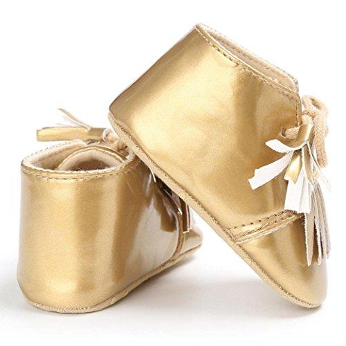 1paar Krippe Mädchen Troddel Sole Baby Prewalker Kleinkind Gold Leder Igemy Neugeborene Soft Jungen Schuhe ZdwCWx4q