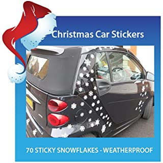 Aurum92 70 Snowflake Car Stickers - Ready for Christmas