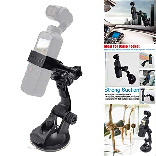 LCLrute Vehicle Windshield Suction Cup Car Mount 1/4 Bracket Holder for DJI Osmo Pocket,Holder Base Base-cup