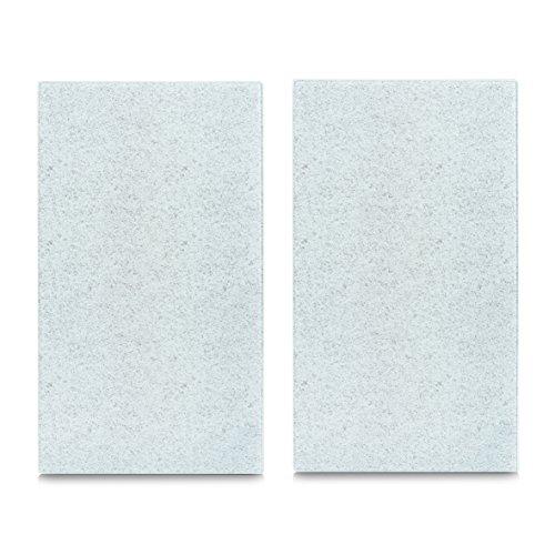 Zeller 26252 Herdabdeck-/Schneideplatten Granit, 2-er Set, Glas, hellgrau