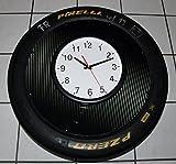 Wand-Uhr Racing (Megagroß) org. aus der DTM, Porsche Cup. Reifen/Slick, Motorsport Geschenk, Weihnachts Geschenk