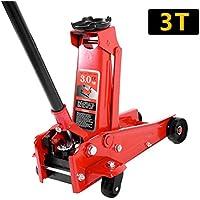 PanaCasa - (Capacidad de Carga 3 Toneladas) Gato Hidráulico Gran Elevación Jack Material Acero Color Rojo