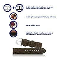 omyzam Correa Reloj Vintage de Cuero Genuino Repuesto Correa con Compatible con Relojes Tradicionales, Deportivos o Smartwatch 18mm 20mm 22mm 24mm 26mm de omyzam