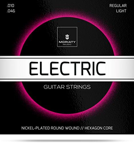 E-Gitarrensaiten ★ Premium Stahl-Nickel E-Gitarren Saiten (6 Saiten-Set) + E-Book