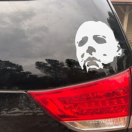 Maribeatty Michael Myers Aufkleber Auto Fenster Halloween Horror Dekorationen Art Wand Aufkleber (Halloween Fenster Aufkleber)