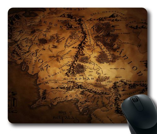 "Custom & Personalized The Hobbit Kingdoms of Middle Earth Mouse Pads/Mats-Picture Printed Rectangle/Oblong Mousepad in 7""*9"""