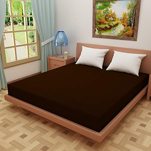 "Dream CareTM Waterproof Dustproof Terry Cotton Mattress Protector for King Size Bed - 72""x72"", Coffee"