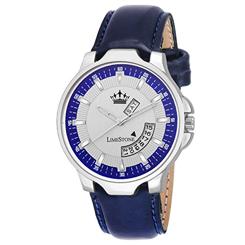 LimeStone Free Size Day and Date Functioning Series Analog Watch For Men's / Boy's - (LS2676)