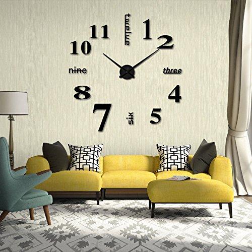 comprare on line Wall Sticker Adesivi orologio di parete digitale Decorazione da Parete,DIY 3D Wall Clock per casa e ufficio.