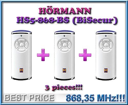 3 X HÖRMANN HS5-868-BS Weiß handsender 868,3Mhz BiSecur 5-kanal fernbedienungen. Top Qualität original Hörmann fernbedienungen!!! 3 Stücke für den besten Preis!