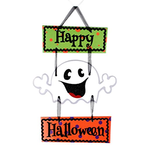 Tinksky Halloween Hanging Dekorationen Ghost Wall Sign Tür Dekorationen Halloween Hanging Tag mit Happy Halloween (Halloween Ghost Dekorationen)