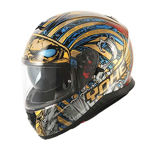 Zhanghongshop Elektro-Motorradhelm, Full-Cover-Unisex-Helm, Regen- und UV-Schutzhelm (Color : B, Size : XL)
